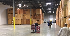 office movers with warehouse space